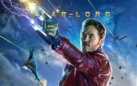 Chris Pratt como Star-Lord, Guardianes de la Galaxia HD fondos de pantalla