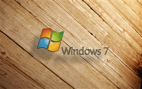 Windows 7, tablero de madera HD fondos de pantalla
