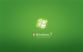 Windows 7 Home Premium, fondo verde HD fondos de pantalla