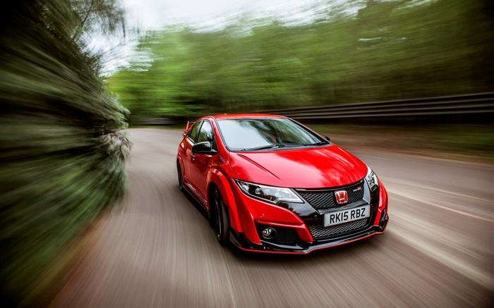 2015 Honda Civic Type R UK-spec velocidad coche rojo HD ...
