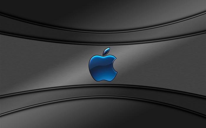 Logotipo de apple azul fondo gris hd fondos de pantalla for Fondo de pantalla gris
