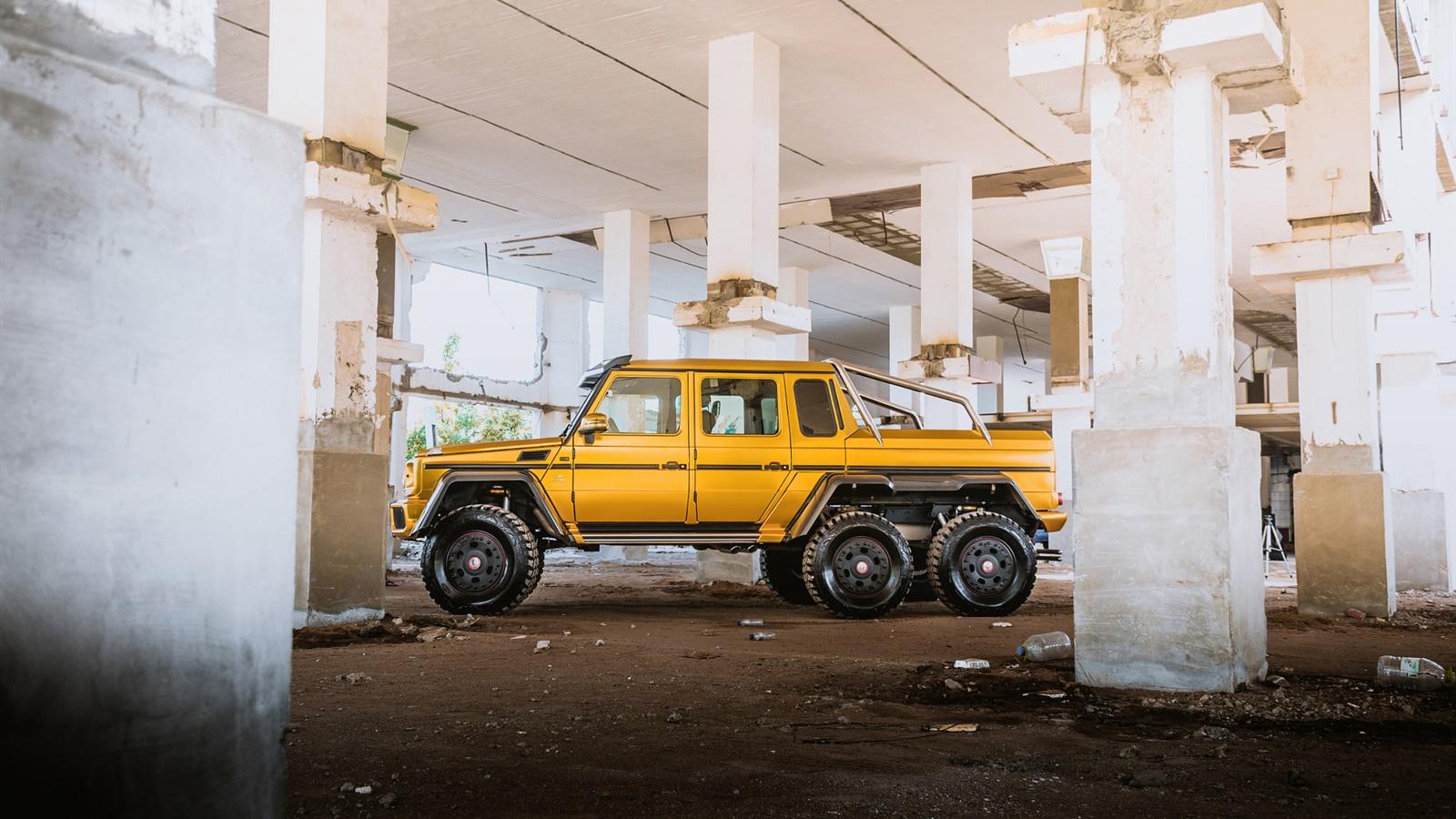 Mercedes Benz Mb G63 Amg 6x6 Camioneta Amarilla Fondos De Pantalla 1600x900 Fondos De Pantalla Descarga Es Hdwall365 Com
