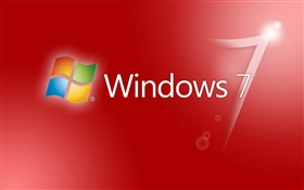 Windows 7 rojo resumen de antecedentes HD fondos de pantalla